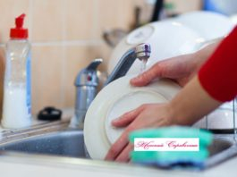 Простой способ защиты рук при мытье посуды
