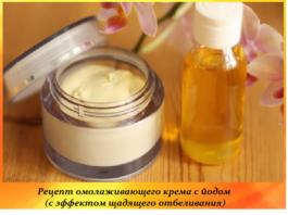 Рецепт омолаживающего крема с йодом (с эффектом щадящего отбеливания)